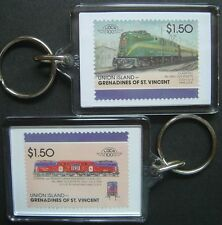 1934 Pennsylvania Railroad (PR) OLD RIVETS Train Stamp Keyring (Loco 100)