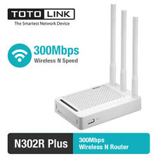 TOTOLINK N302R+ 300Mbps WiFi Wireless VPN Router 3 5dBi Antennas English Russia