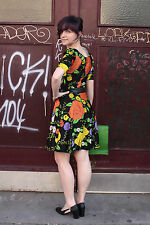 Kati kurzes Kleid Blumen Motiv short dress flowers 70er True VINTAGE 70s Hippy