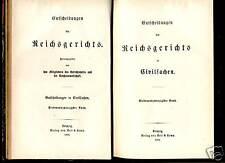 Justiz---Entscheidungen des Reichsgerichts--1891 -Zivil