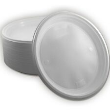100 x Menüteller Ungeteilt einfach Einweggeschirr Teller - Weiß - Plastikteller