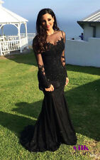 Mermaid Wedding Bridesmaid Dress Formal Gown Ball Party Evening Prom Dresses