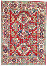 5x7 Hand-Knotted Kazak Carpet Tribal Red Fine Wool Area Rug D57149