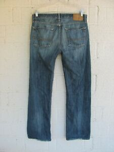 MEN'S AMERICAN EAGLE JEANS 32 X 32 LOW RISE BOOT BLUE DENIM PRE OWNED