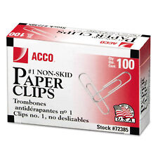 ACCO Nonskid Economy Paper Clips Steel Wire No. 1