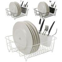 Metal Dish Plate Utensil Rack Kitchen Sink Drainer Washing Up Draining Holder