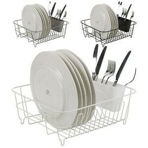 Large Metal Dish Plate Utensil Drainer Rack Kitchen Washing Up Draining Holder