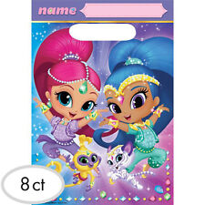SHIMMER AND SHINE PLASTIC FAVOR BAGS (8) ~ Birthday Party Supplies Loot Goody