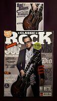Classic Rock 3 Magazine Bundle +CDs Bonamassa Dio Slash ZZ Top Issue 185 187 188