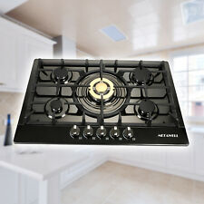 """Modern 30""""Stainless Steel 5 Burners Built-In Stove Cooktop Gas Ng/Lpg Hob Cooker"""