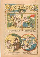 Caricature Humour Poisson Frais Poissonnière Bistro Bock Bière Bottin Paris 1931