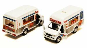 """Taco Truck, White - Kinsmart 5255D - 5"""" Diecast Car"""