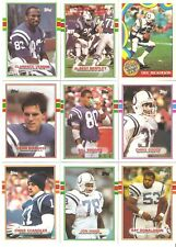 1989 Topps Indianapolis Colts Football Team Set (14 Cards) Dickerson Chandler RC