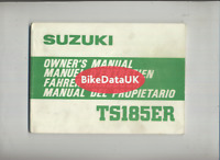 Suzuki TS185ER-T (1980 >>) Genuine Owners Riders Manual Handbook TS 185 ER CZ20