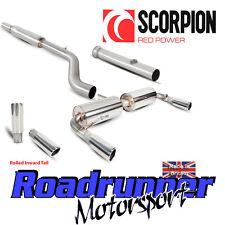 Scorpion Clio 197 Sistema De Escape Acero Inoxidable Gato atrás atractivo con de gato hacia adentro