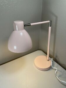 "Metal 26"" Pink Desk Lamp Touch Activated Articulating Table Lamp"