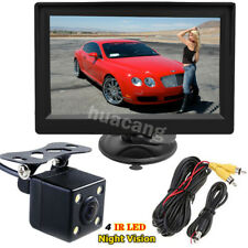"4LED Night Vision Car Reversing Rear View Camera + 5"" Color LCD HD Video Monitor"