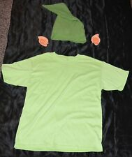 Link From Zelda Shirt Ears & Hat Halloween Costume Kids Boys Size 12-14 XL Youth