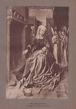 Héliogravure LA VIERGE ET L' ENFANT ART RELIGIEUX RELIGION  VAN DER WEYDEN  1904