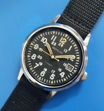 Vintage 1970s Mans WESTCLOX  Manual Wind 24 H Military Dial FULLY SERVICED