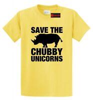 Save The Chubby Unicorns Funny T Shirt Rhino Unicorn Horse Lover Gift Tee Shirt