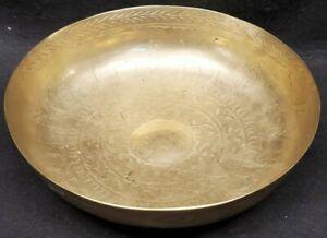 Brass Bowl ingraved Tree design middle eastern