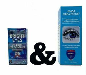 Ethos Eye Drops for Cataracts 10ml & Mega Focus Sublingual Drops 60ml