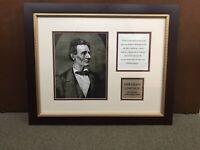 SPECIAL Abraham Lincoln Civil War Gettysburg Address Prof. Framed Photo Art