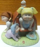 """Vintage 1984 Xavier Roberts Ceramic Cabbage Patch """"CPK CLUBHOUSE"""" Figurine"""