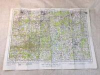 WW2 Militare Mappa Di Guildford Horsham Aldershot Haslemere Guerra Ufficio Issue