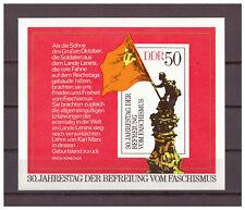 DDR, 30. Jahrestag der Befreiung vom Faschismus MiNr. 2042 Block 42, 1975** MNH