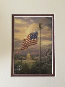 America's Pride By Thomas Kinkade 10 X 8 Double Matted Print Ready To Frame