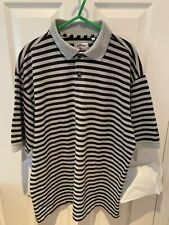 Callaway Golf Sport Mens Polo Shirt Size L Large 100% Cotton Black Grey
