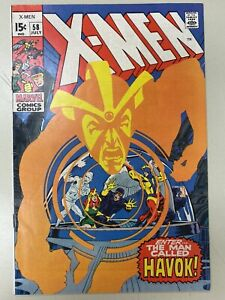 THE X-MEN #58 (1963 Series) ENTER HAVOK SENTINELS POLARIS LARRY TRASK