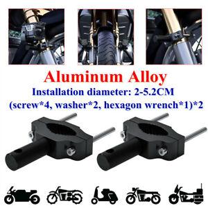 2X Motorcycle Spotlight LED Headlight Bracket Extension Pole CNC Aluminum Alloy