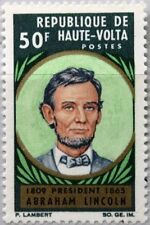 UPPER VOLTA OBERVOLTA 1965 173 144 Cent. Death Abraham Lincoln US President MNH