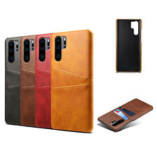 Leather Luxury Vintage Wallet Card Slots Back Cover For Huawei P30 Pro Sam S20