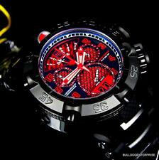 Invicta Subaqua Noma V JT Red Black 50mm LE Twisted Metal Chronograph Watch New
