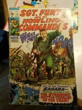 Sgt Fury and His Howling Commandos #72 Marvel Silver Age Comic 1969 fair cond.