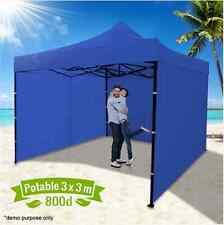 Waterproof 99% UV Resistant Blue Gazebo Marquee Tent Roll-Up Door Zip Access