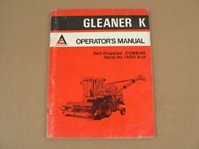 Allis Chalmers Gleaner K Combine Owners Manual 1973 Serial # 14601 and Up