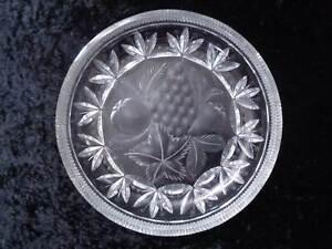 Design Crystal Glass Bowl - Fruit Decor Hand Cut - 1,8 KG - Vintage