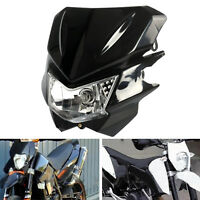 Motorcycle Hi/Lo Dual Light Headlight Fairing H4 Bulb Lamp  For Streetfighter