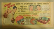 Gillette Razor Ad: Baseball Early Wynn from 1950's Size: 7.5 x 15 inches