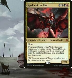 Kaalia of the Vast DRAGONS Commander Deck EDH Magic Cards MTG Ready-to-Play