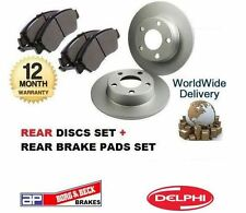 FOR CHRYSLER GRAND VOYAGER 2.0 2.5 3.3 1996-2001 REAR BRAKE DISCS + DISC PADS