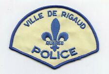 Ville de Rigaud Police, Quebec, Canada HTF Vintage Uniform/Shoulder Patch