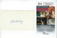 1930 GIANTS Bill Terry signed 3x5 index card JSA COA AUTO Autographed .401 BA NY
