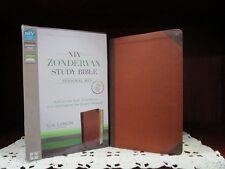 ** NIV Study Bible - Chocolate/Caramel Leathersoft *PERSONAL Size*  NEW!!   632