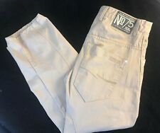 "JACK AND JONES Men's No 75 Beige  Cropped Button Fly Jeans W34"" x L27"""